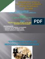 Estrategias Negocios Internacionales