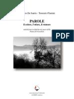Antonio De Santis - Terenzio Flamini PAROLE il colore, l'odore, il rumore