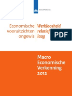 Macro Economische Verkenning 2012