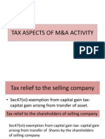 Tax Asepct of M&A