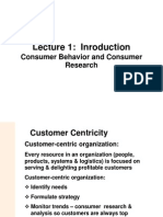 L1 Consumer Behavior & Consumer Research