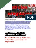 Noticias Uruguayas Lunes 8 de Abril Del 2013