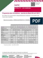 q Paris - Les Aubrais - Tours Limoges 09-04-13 Tcm-17-87355