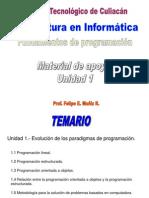 Fundamentos de Programacion Unidad 1