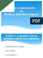 DISEÑO Y ELABORACIÓN DE MATERIAL DIDÁCTICO IMPRESO