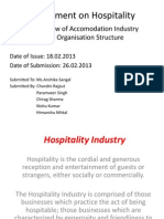 Overview of Hospitality Industry