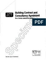 JCT Home Owner Consultancy Agreent