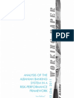 Analysis of the Albanian Banking System in a Risk Performance Framework