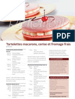 R1012 Tartelettes Macarons, Cerise Et Fromage Frais