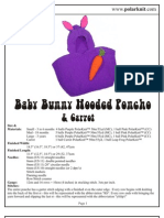 Baby Bunny Hooded Poncho