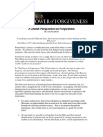A Jewish Perspective on Forgiveness