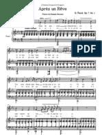 Faure_Op. 7 Apres Un Reve Piano-Voice