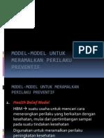 Model-model Untuk Meramalkan Perilaku Preventif