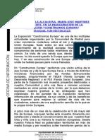 PALABRAS ALCALDESA EXPOSICIÓN CONSTRUIMOS EUROPA