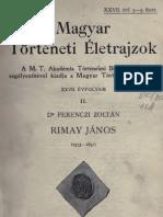 Ferenczi Zoltán - Rimay János, 1573-1631 (1911)