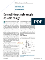 Single Supply Op Amp Design