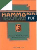 Hammond Transformers 1935