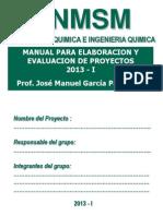 Manual Para Elaborar Un Proyecto 2013 - i
