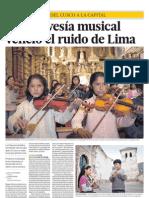 Una travesía musical venció el ruido de Lima