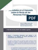 Novedades IRPF 2012