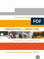 Aroindustria en America Latina