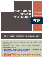 Programe de Formare Profesionala