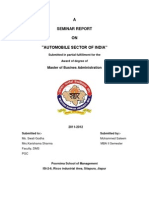 """A SEMINAR REPORT ON """"AUTOMOBILE SECTOR OF INDIA"""""""