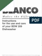 Bow 203 Dishwasher Manual