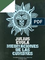 Julius Evola - Meditaciones de Las Cumbres