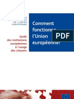 Comment Fonctionne l'Union Europeenne