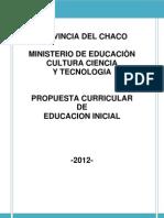 PROPUESTA CURRICULAR PARA EDUCACIÓN INICIAL -  BORRADOR (1)