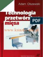 Olszewski Adam - Technologia przetwórstwa mięsa - spis treści