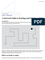 A Survival Guide to Starting and Finishing a PhD