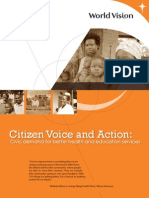 CVA - Civic Demand for Better Health and Education Services