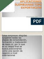 Aplicaciones Colombianas Tipo Exportacion