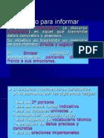 El Discurso Para Informar