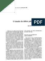 O desafio do d+®ficit p+¦blico