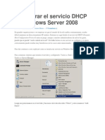 Configurar El Servicio DHCP en Windows Server 2008