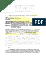 Ys Model Letter of Credit Form