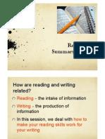 Reading Writing Strategies 1 Dec 2012