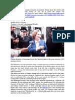 Margaret Tatcher Financial Times