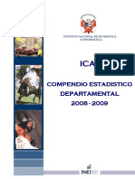 Compendio Estadístico Departamental ICA 2008 - 2009