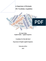 The Importance of Strategies in EFL Vocabulary Acquisition