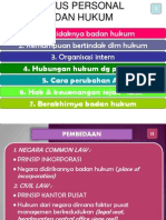 Status Personal Badan Hukum