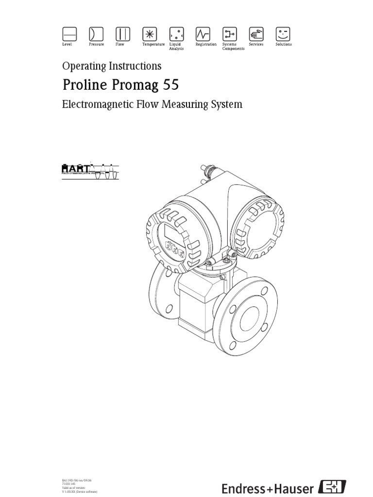 5 H 53 a) PROMAG 55S Operation Manual pdf | Screw | Pipe