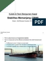 Kuliah-8 TBK Stabilitas Memanjang