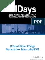 Como Utilizar Codigo Matematico m en Labview
