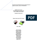 Identificación de árteas prioritarias para la conservación