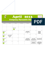 April Calendar Dynamites and Company