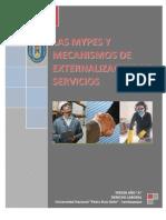 113552589 Las Mypes y Los Mecanismos de Externalizacion de Servicios Docx